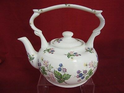 Rare vintage Arthur Wood teapot with top handle #6106 - Blackberry pattern