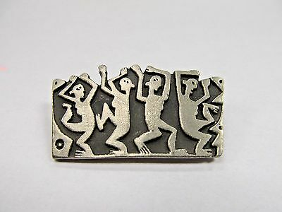 Alice Seely Urban Fetishes Pewter Modernist Brooch/Pin