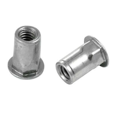 "Sherex Fastening Threaded Insert Rivet Nut Hex 1/4""-20 *Pack of 10*"