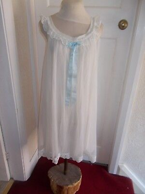 Vintage 60s 70s Sheer Nylon Baby Doll Nightdress by DAVID NIEPER Size W 99p