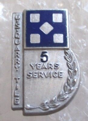 Vintage United States Quarry Tile Company 5 Year Employee Service Award Pin