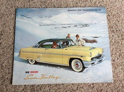 1954  Mercury  Sun Valley original dealership showroom deluxe color sales catalo