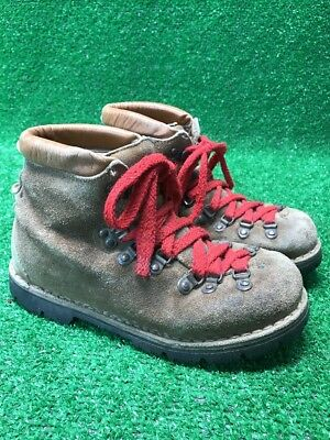 Vintage Mcgregor  Suede Leather Hiking Mountaineering Boots Mens Sz 6 Vibram
