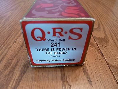 """QRS Pianola Roll - Hymn Tune - """"THERE'S POWER IN THE BLOOD"""""""