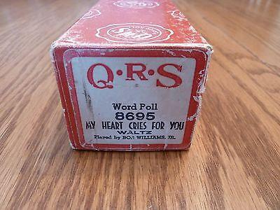 """Vintage QRS Pianola Roll - """"My Heart Cries For You"""" Waltz"""