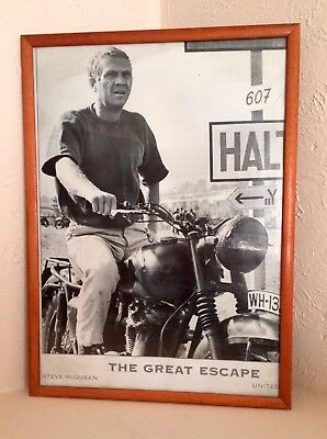Steve McQueen 'The Great Escape' Framed Picture 1963.