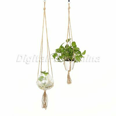 Modern Plant Hanger Hanging Planter Basket Jute Rope Pot Holder Macrame Braided