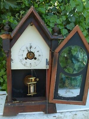 Clock Parts New Haven  Usa Steeple Clock Ticking  Spares  Repair  Alarm  Clock
