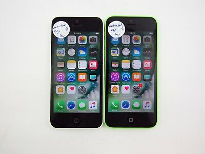 Lot of 2 Apple iPhone 5C 8GB A1532 Unlocked Carrier Check IMEI Grade B 5-705