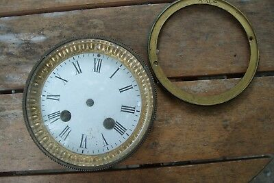 "Clock  Parts Front Glass  Door & Back Door Fits 4"" Hole French Mantel"