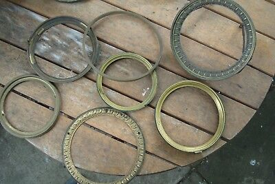 Clock Parts 7 Mixed  Front  Doors  For   French  Clocks  Brass