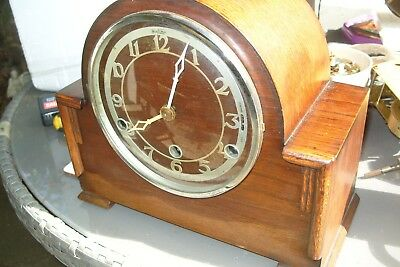 mantel  clock BENTIMA  WESTMINSTER  STRIKING  CLOCK  WORKING KEY & PENDULUM
