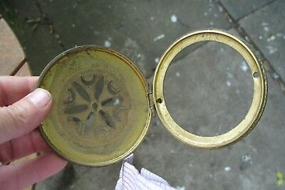 Clock Parts Back  Brass Door Hinged  Fits  Hole Size 88Mm