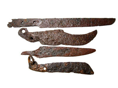 LOT OF 4pcs. ANCIENT ROMAN IRON KNIVES, WELL CLEANED AND PRESERVED+++