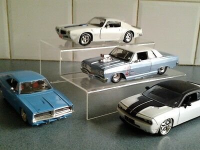 Display Stand for 1:24 Scale Diecast/Model Cars (Stepped)