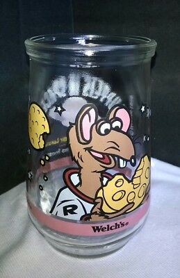 1998 Welch's Muppets In Space Jelly Glass, #5 of #6, Rizzo's Lunar Lunch