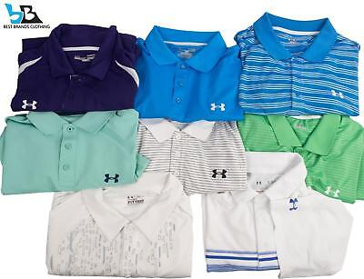 Lot of 8~Under Armour Athletic Golf (S/S) Polo Loose Fit HEAT GEAR Shirts XL NR!