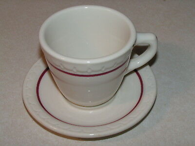 Chicago Rock Island & Pacific Railroad China Cardinal Pattern Coffee Cup/Saucer