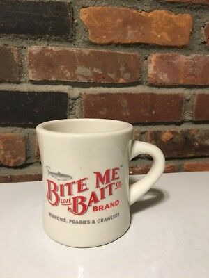 "Oversized Coffee Mug ""Bite Me Live Bait Co."" Newport, Rhode Island M Ware FISH"