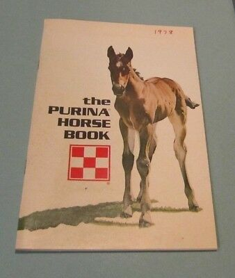 1973 The Purina Horse Book Brood Mares Stallions Products Advertising Photos