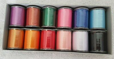 Brother~ Machine Embroidery Thread~12  Different Colours~New In Box