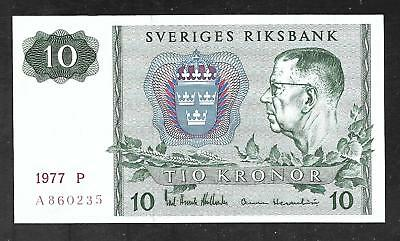 Sweden - 10 Kronor Note - 1977 - P52d - Uncirculated