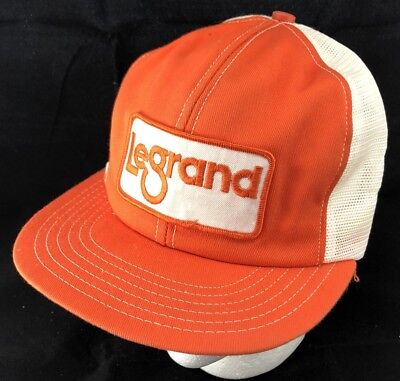 6e25054a2556b Vtg 80s Mesh Trucker Hat Snapback Patch Cap LeGrand Electrical Equipment  Ontario