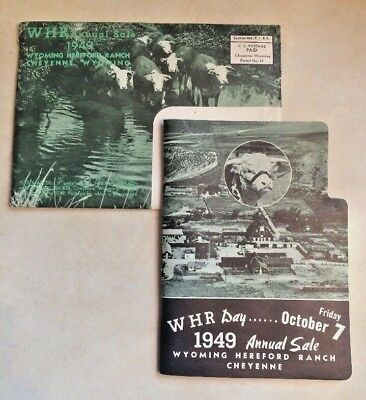 Vintage 1949 Wyoming Hereford Ranch WHR Annual Sale Catalog Brochure Wyoming