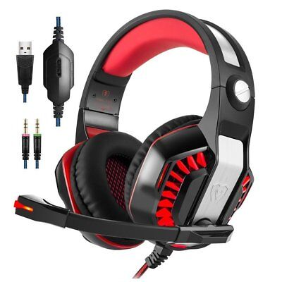 Kotion G2000 Computer Gaming Stereo Headset Earphone MultimediaLED w/ Mic Lot VB