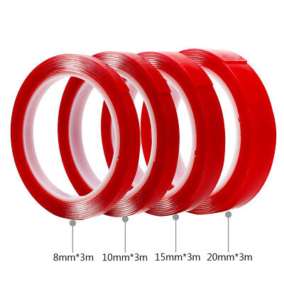 Car Double Side Tape Acrylic Foam Transparent Adhesive Auto Glue Sticker styling