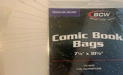 10 Pre Made Bcw Silver Age Comic Book Bags And Boards 2 Mil Acid Free