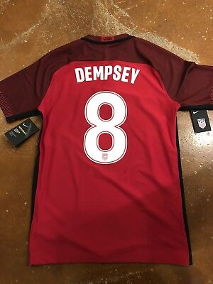 412225765 NIKE USA SOCCER JERSEY - US 2017 Clint Dempsey Authentic Centennial DTOM  Size M