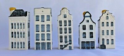 Delft Lot of FIVE Miniature Houses for Bols Distillery KLM #30, 45, 46, 47 & 75