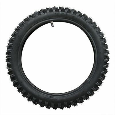 "60/100-14"" Dirt Pit Pro Trail Bike Tire 2.75-14"" Knobby Front Tyre + Inner Tube"