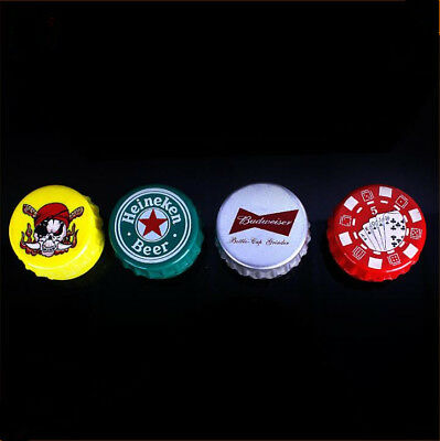 Metal Bottle cap shape Tobacco Herb Grinder Mini Spice Herbal Smoke Mill Crusher