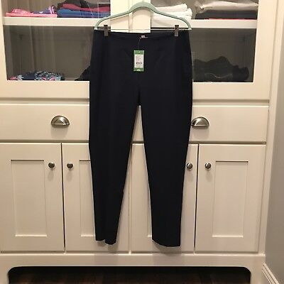 $158 Lilly Pulitzer Hepburn Cigarette High Waist Navy blue Pants Size 10 NWT!