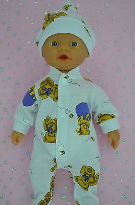 """Play n Wear Doll Clothes For 13"""" Little Baby Born PATTERNED STRETCH AND GROW~HAT"""