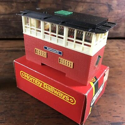 Vintage Boxed Hornby Railways R145 Modern Signal Box Train Ramsgate Station