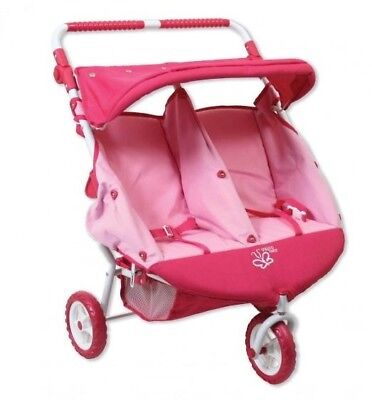 Valco Baby Just Like Mum Mini Marathon Twin Doll Pram/Stroller Toy/Kids/Pink