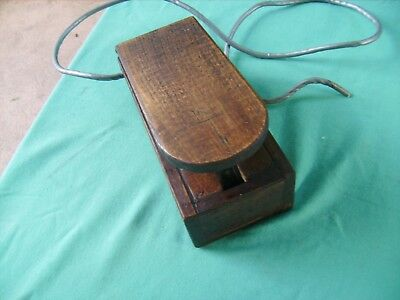 """""""ANTIQUE"""" Sewing"""" Foot Control Piece for Electric Machines ,WOODEN iTEM"""