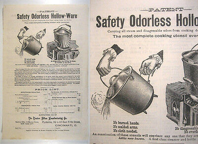 1885 Illustrated Flyer Patented Cast Iron Hollow-Ware Kettles-Hunter Sifter Mfg.