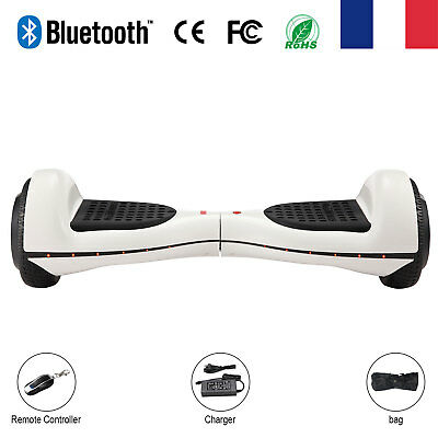 """6,5""""Neuf Blanc Hoverboard Gyropode Overboard Auto équilibre Électrique E-Scooter"""