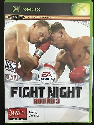 EA SPORTS FIGHT NIGHT ROUND 3 Microsoft Xbox Game + Booklet PAL