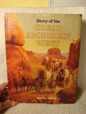 Vintage 1977 Reader's Digest Story Of The Great American West Book