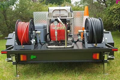 Bigfoot Storm – Sewer Drain Trailer Jetter, 5000 psi, 25 lpm, 60m mini reel,