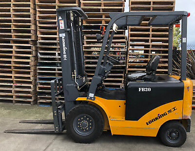 Lonking Electric Counter-Balance 2 tons Forklift 5m Lifting Height 3 Stage Mast