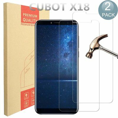 [2 Pack] Premium Tempered Glass Screen Protector For CUBOT X18(Transparent)