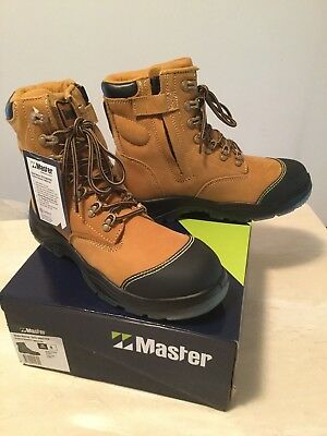 Men's Site Master Steel Capped Workboots -Size 8 (UK/AUS) new and unused in box