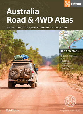 Hema Australia Road & 4WD Atlas (perfect bound) *FREE SHIPPING - NEW*