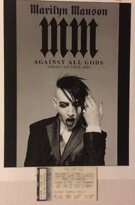 Marilyn Manson Against All Odds Promo Photo and Ticket Stub